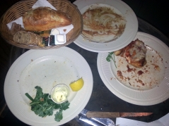 Food left by restaurant patrons